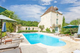 Beautiful stone chateau, garden and pool in Dordogne, France