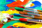 ☺♥ Paints and brushes...