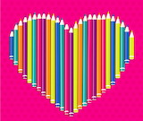 Colours-colorful-colored-pencils-forming-heart-pink