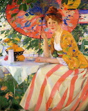 Buehr, Karl Albert Red Haired Woman with a Parasol