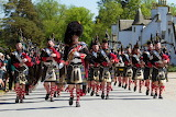 Highlanders parade, Blair castle