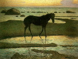Horse at the Beach. Nils Kreuger 1902