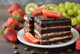 Sweets Cake Strawberry Coffee Plate