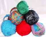 Assorted yarn balls
