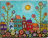 #WMP 7 Houses, Blooms & Moon- Karla Gerard