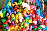 Bright Rainbow of Embroidery Floss
