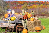 Fall Colors and Scarecrows