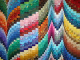 ^ Colorful Bargello wall hanging