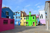 Italy burano island colorful houses