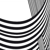 Abstract background black white curve lines