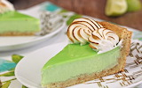 Toasted coconut and lime meringue tart