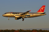 Sunset Arrival Northwest Airlines Airbus A319