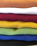 Colorful pattern fabric textile ribbed thermal