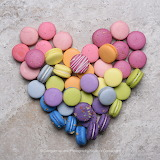 Rainbow Heart Macarons