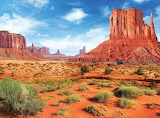 Eurographics puzzles-Monument Valley, a red-sand desert regio…