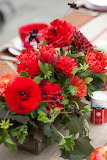 Red Fall Centerpiece