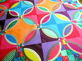 Bright colorful quilt