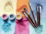 Powders and Brushes Top View