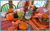 ^ Festive tablescape dinnerware setting
