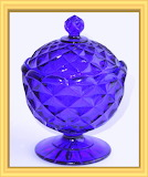 Depression Glass Cobalt Blue