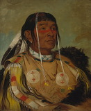 George Catlin - Sha-có-pay, The Six, Chief of the Plains