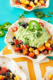 ^ Guacamole Tacos with Southwestern Veggie Salsa