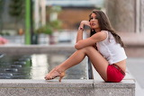 Girl by Fountain