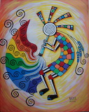 Rainbow kokopelli by nnnickeee