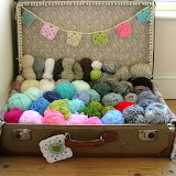 Suitcase of Colorful Yarn Balls