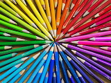coloured crayons wheel
