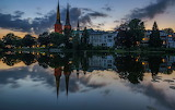 Germany Houses Rivers Evening Cities