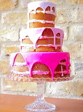 Pretty in pink ombre cake @ Fab Mood