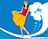 Girl vector graphic