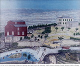 Painting of Barton Springs and Mill, 1882