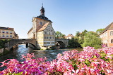 Germany, Bamberg, Old Town Hall with bridge