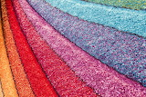 Candy colored rainbow rug