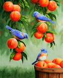 #Bluebirds and Peaches by Crista Forest