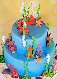 Under the sea cake @ Delectable Cakes