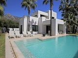 Luxury modern villa and pool Marbella, Spain