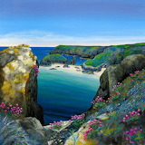 Kynance Cove and Seapinks by Gilly Johns