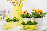^ Easter table decorations