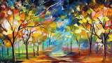 Painting, Abstract Trees