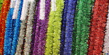 Colors texture christmas garlands