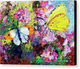 Abstract Butterflies painting