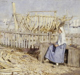 The Boat Builder's Yard, Cancale by HH La Thangue