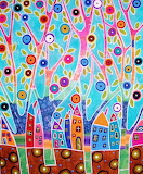 #Trees Houses Landscape by Karla Gerard