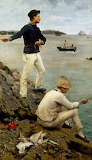 Fisher Boys Falmouth bt Henry Scott Tuke 1885