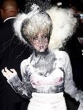 Lady Gaga does her own spin on a veil on Nov. 1, 2009 in New Yor