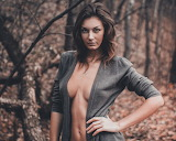Brunette in Forest