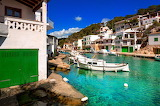 Spain Houses Boats Canal Cala Figuera Mallorca Cities